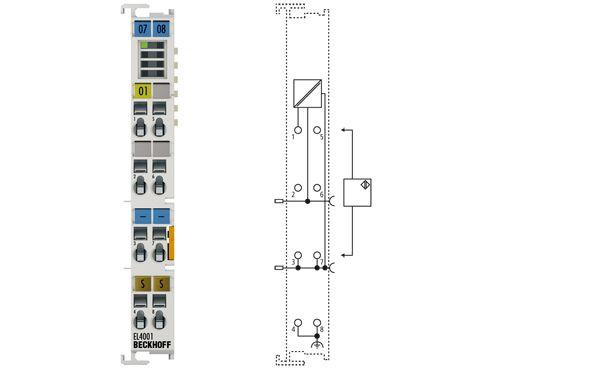Analog output terminal- 1 channel - EL4001 Beckhoff
