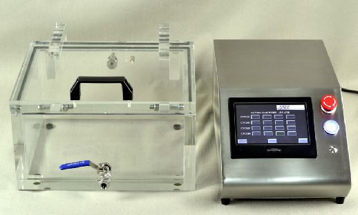 Máy kiểm tra và phát hiện rò rỉ khí trong sản phẩm bao bì VLT PLC hãng AT2E