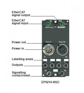 Bộ cung cấp phân phối nguồn EP9214-0023 hãng Beckhoff