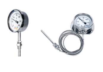 Đồng hồ đo nhiệt độ dạng cơ loại dây kéo dài hãng Tempsens.