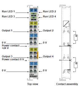 Mô đun ngõ ra 4 kênh analog EL4024 hãng Beckhoff